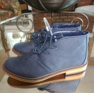 Nautica Boys Navy Nubuck Ankle Boots Size 3 New